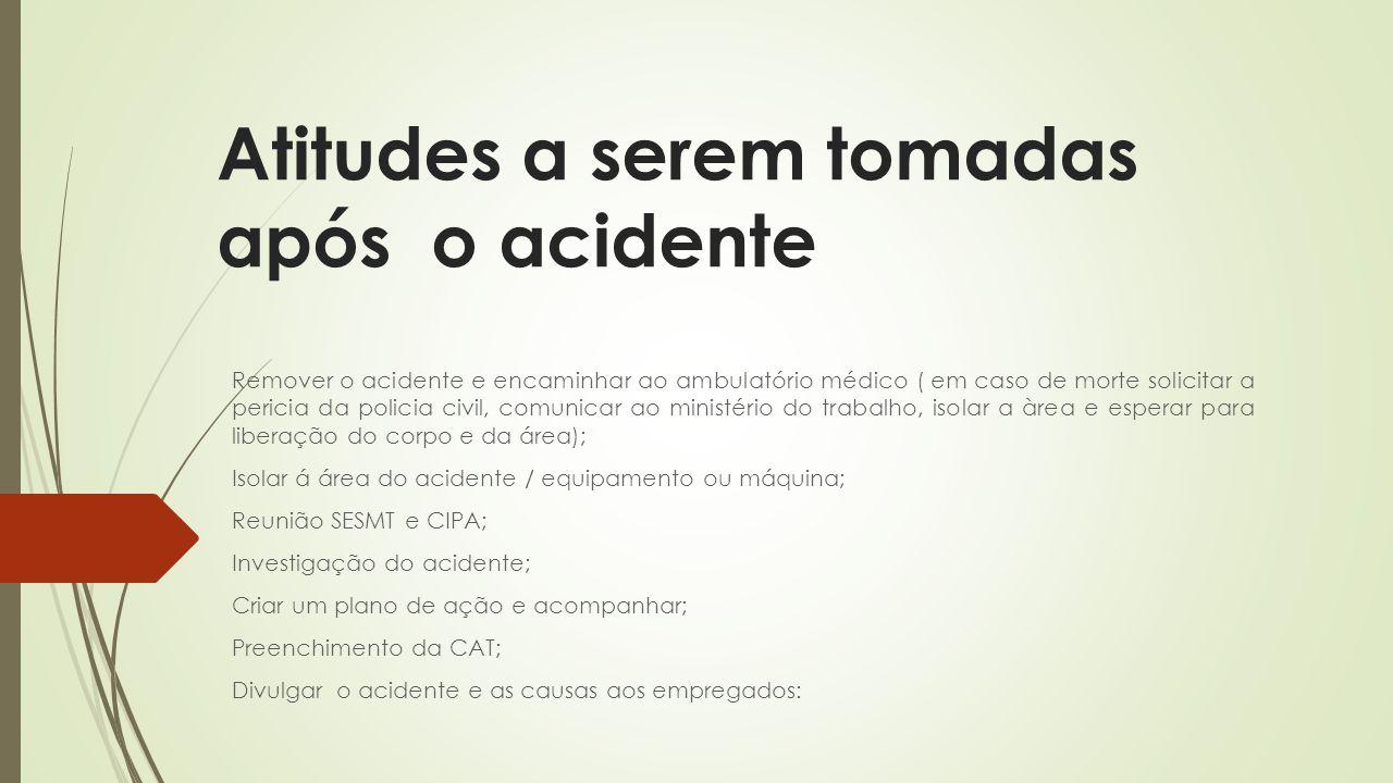 Atitudes a serem tomadas após o acidente