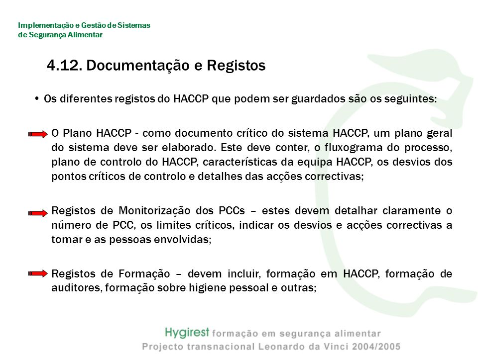 4.12. Documentação e Registos