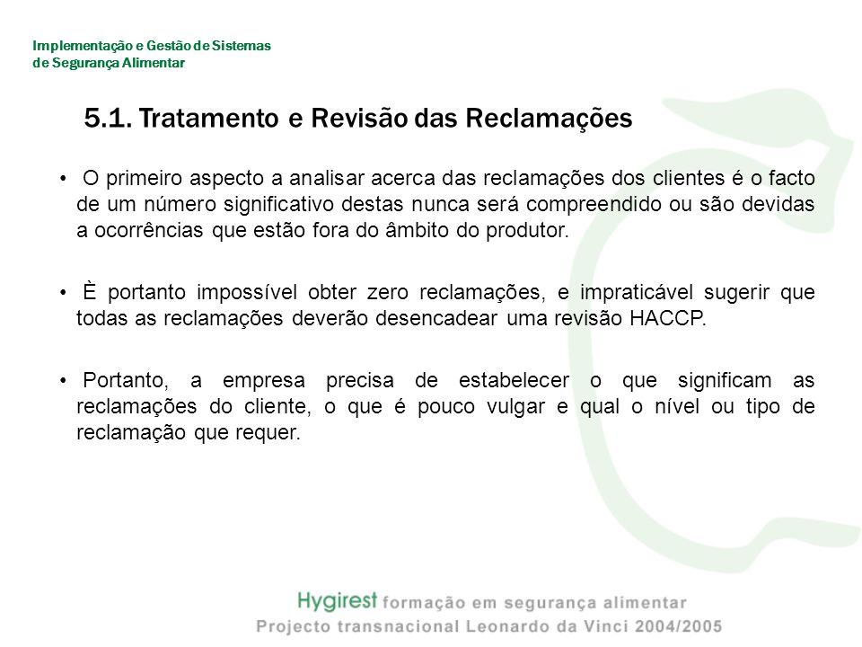 5.1. Tratamento e Revisão das Reclamações