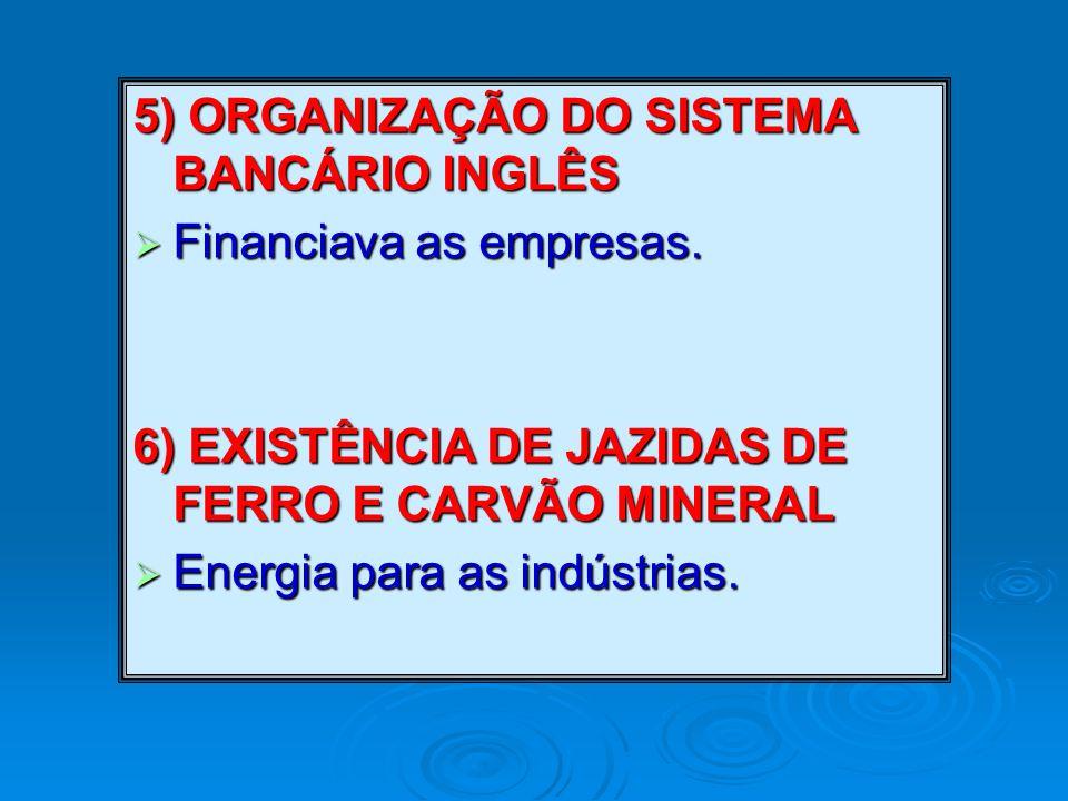 5) ORGANIZAÇÃO DO SISTEMA BANCÁRIO INGLÊS