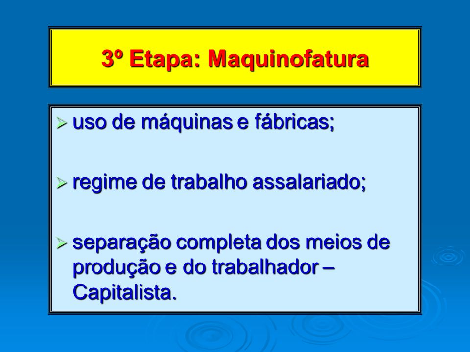 3º Etapa: Maquinofatura