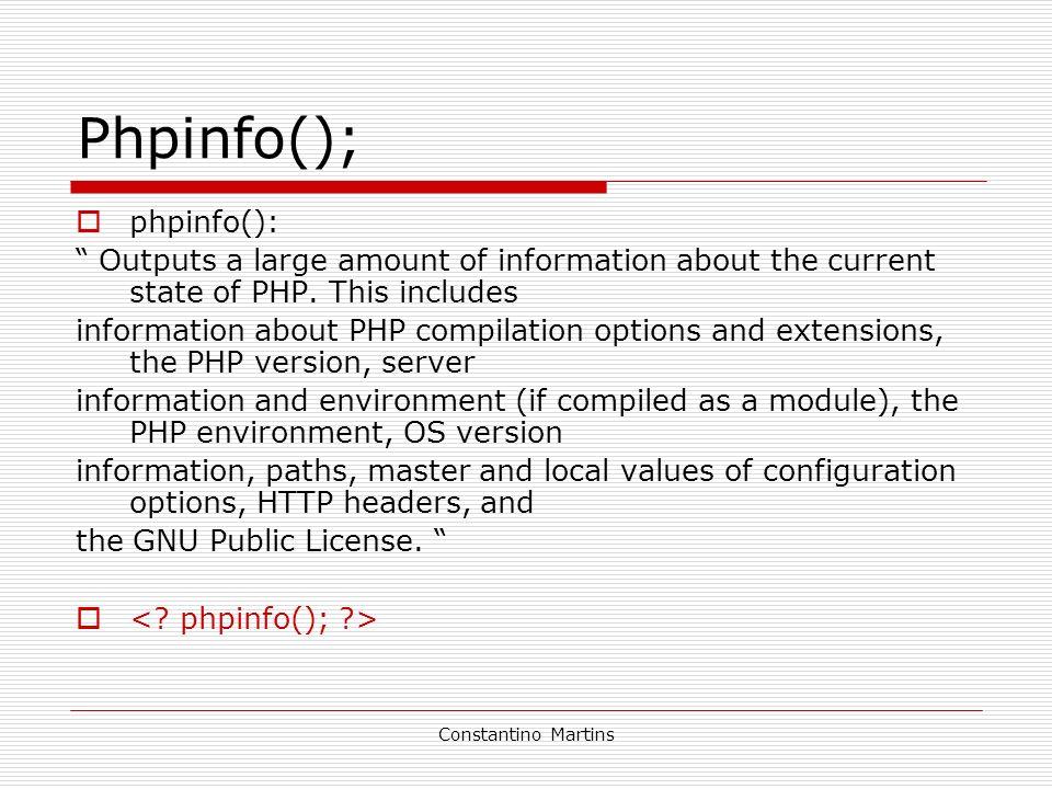 Phpinfo(); phpinfo():