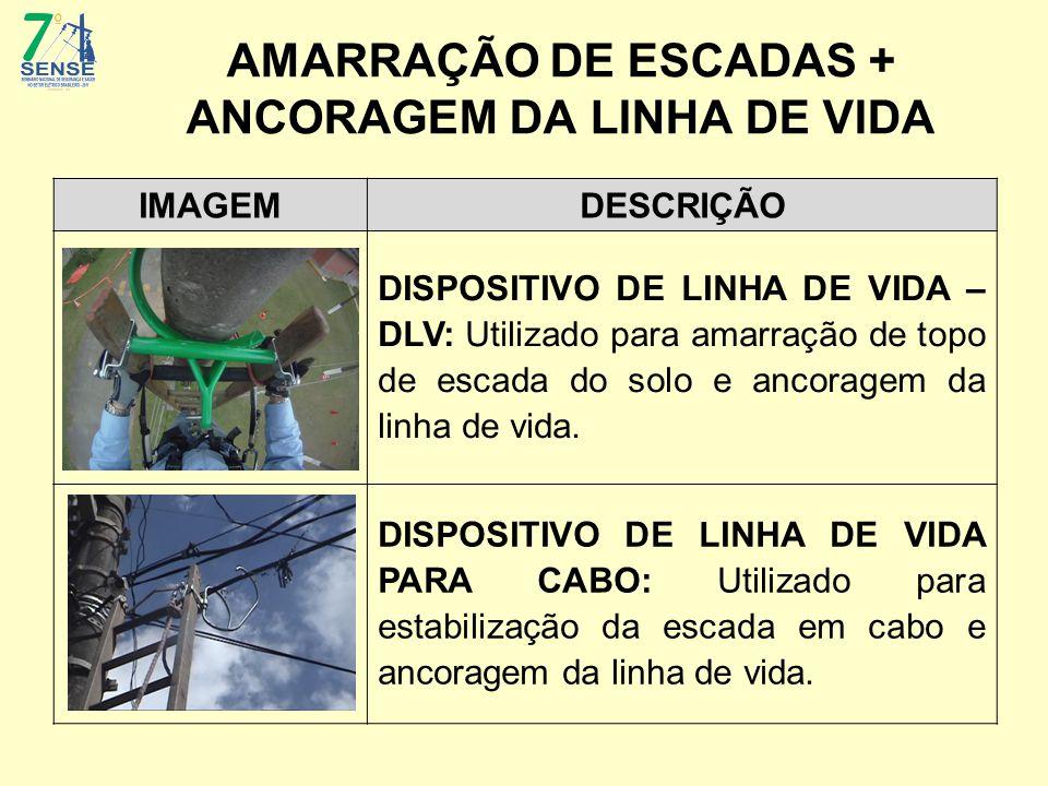 AMARRAÇÃO DE ESCADAS + ANCORAGEM DA LINHA DE VIDA