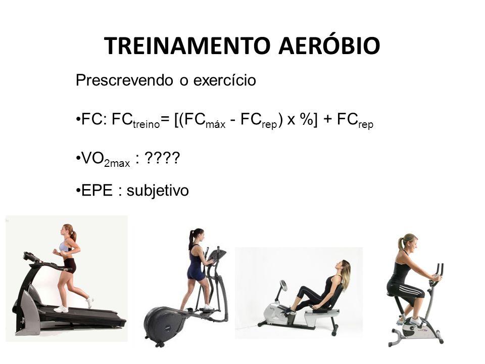 TREINAMENTO AERÓBIO Prescrevendo o exercício