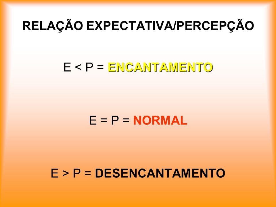 RELAÇÃO EXPECTATIVA/PERCEPÇÃO