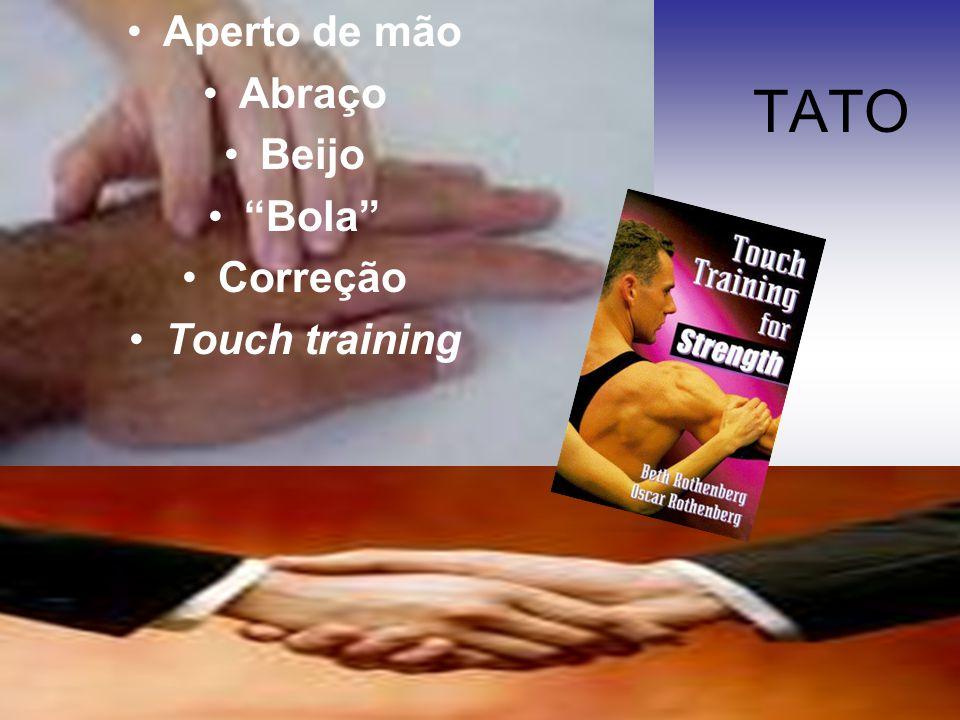 Aperto de mão Abraço Beijo Bola Correção Touch training TATO