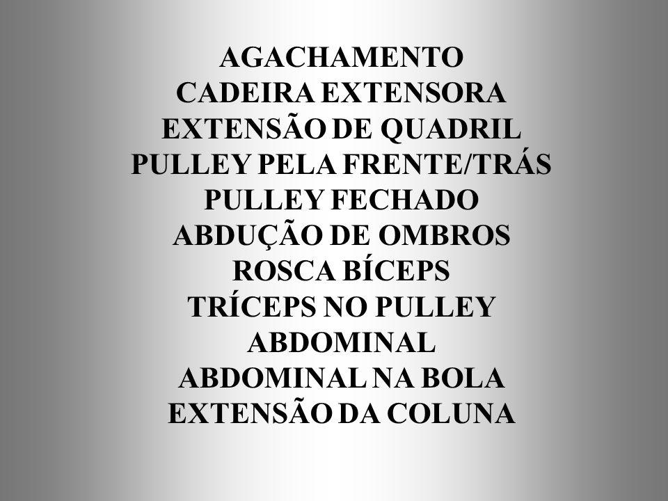 PULLEY PELA FRENTE/TRÁS