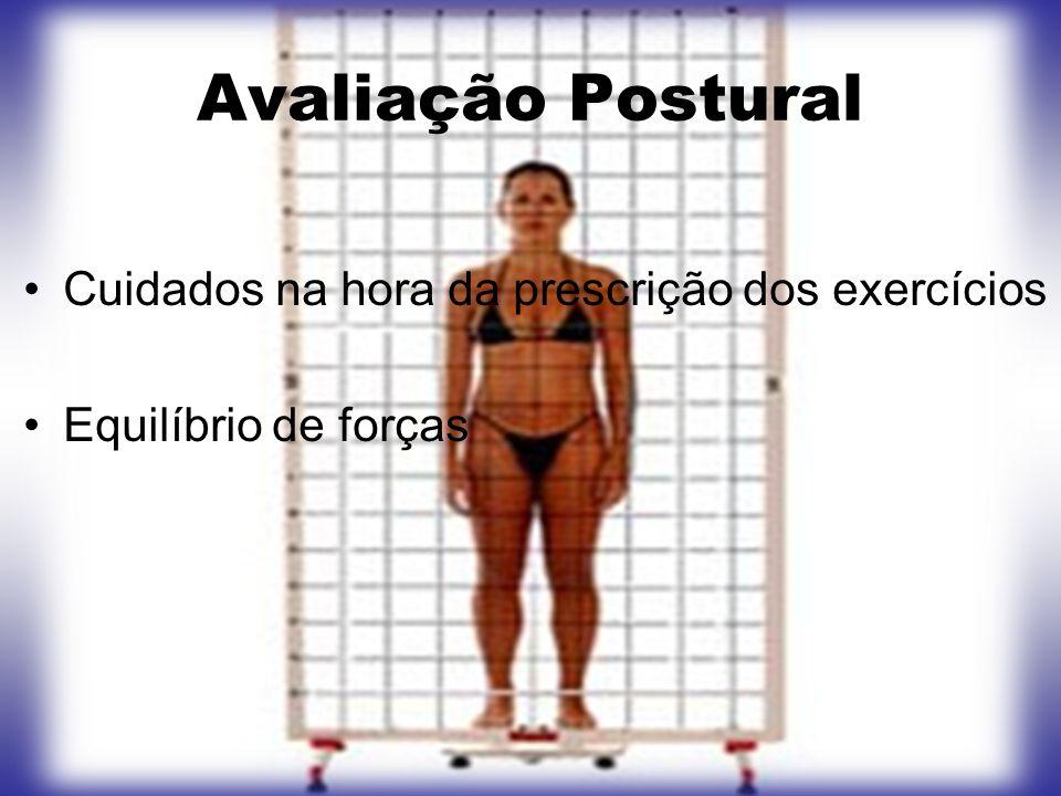 Avaliação Postural Cuidados na hora da prescrição dos exercícios