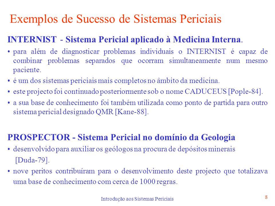 Exemplos de Sucesso de Sistemas Periciais