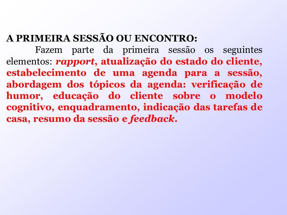 A PRIMEIRA SESSÃO OU ENCONTRO: