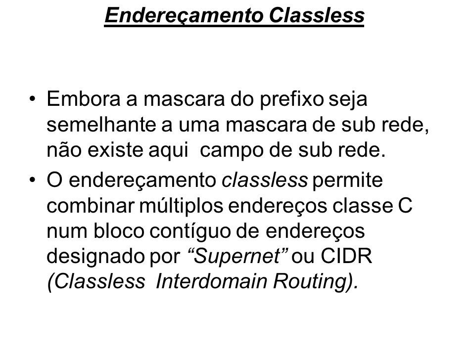Endereçamento Classless