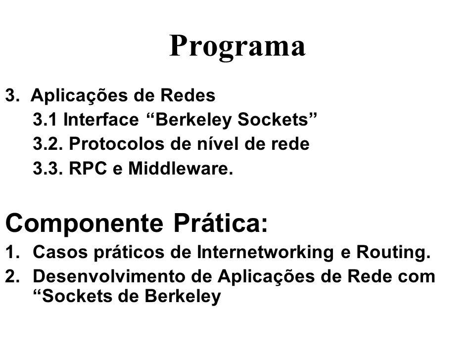 Programa Componente Prática: 3. Aplicações de Redes