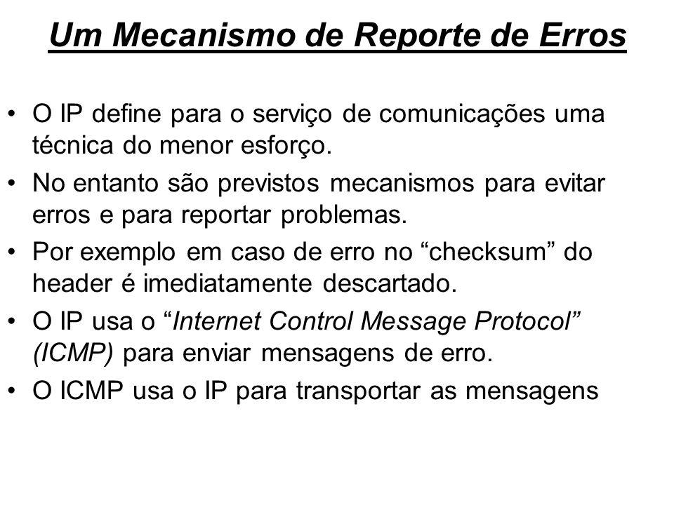 Um Mecanismo de Reporte de Erros