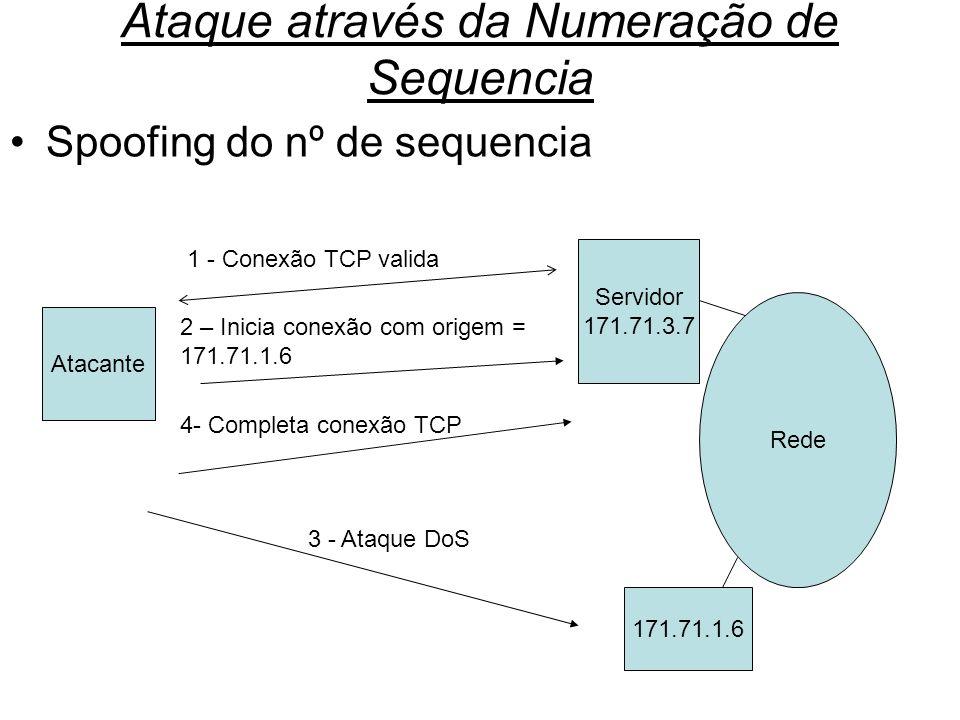 Ataque através da Numeração de Sequencia