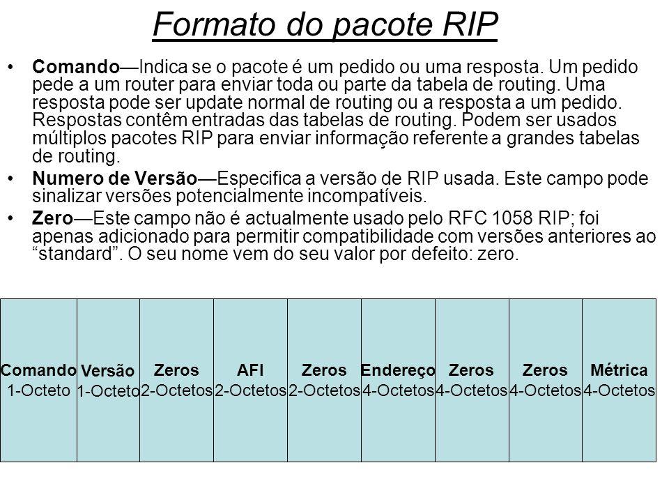 Formato do pacote RIP