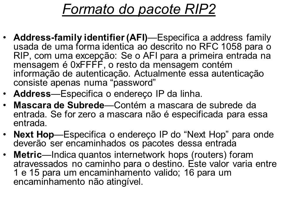 Formato do pacote RIP2