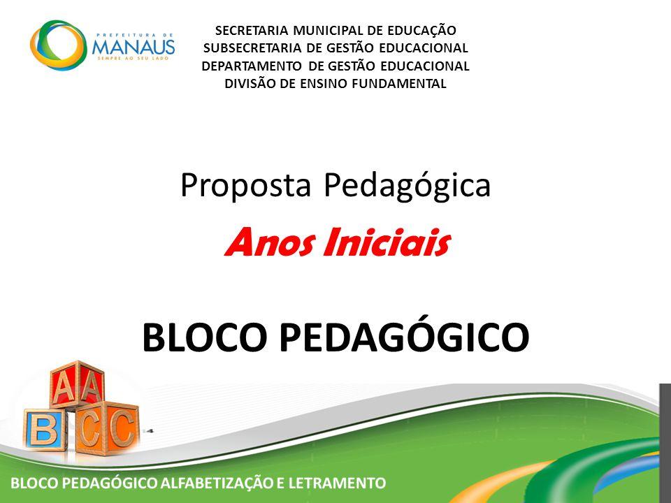 BLOCO PEDAGÓGICO Anos Iniciais Proposta Pedagógica
