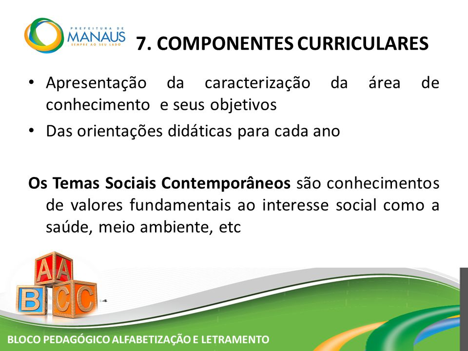 7. COMPONENTES CURRICULARES