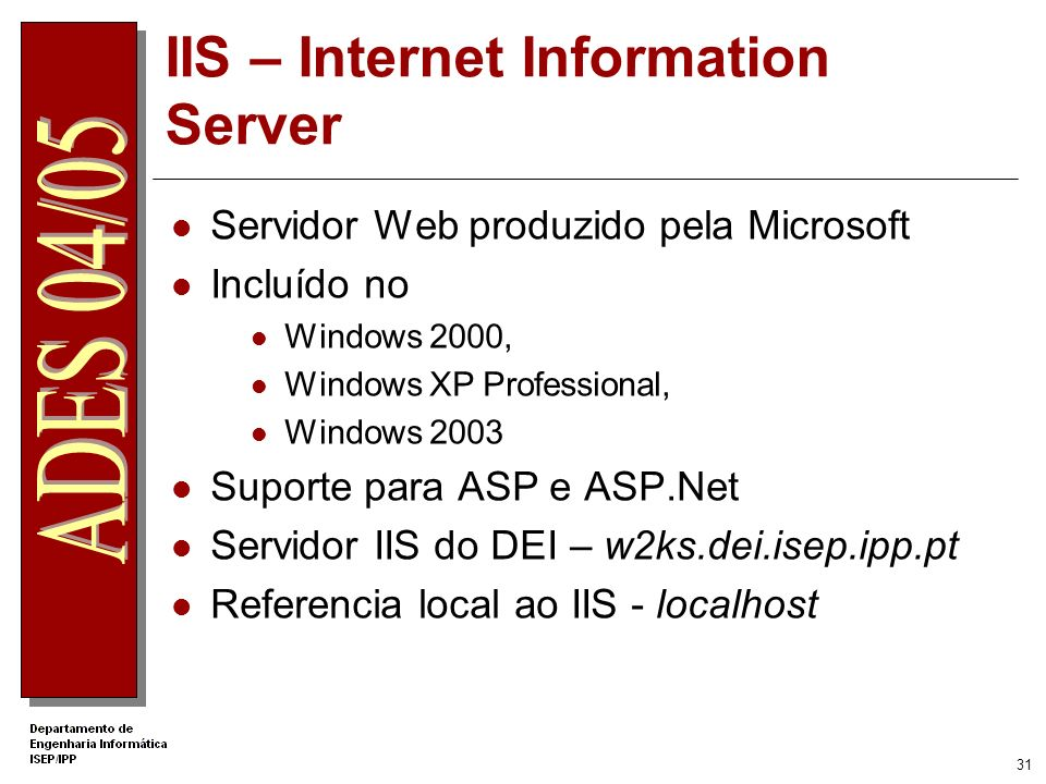IIS – Internet Information Server
