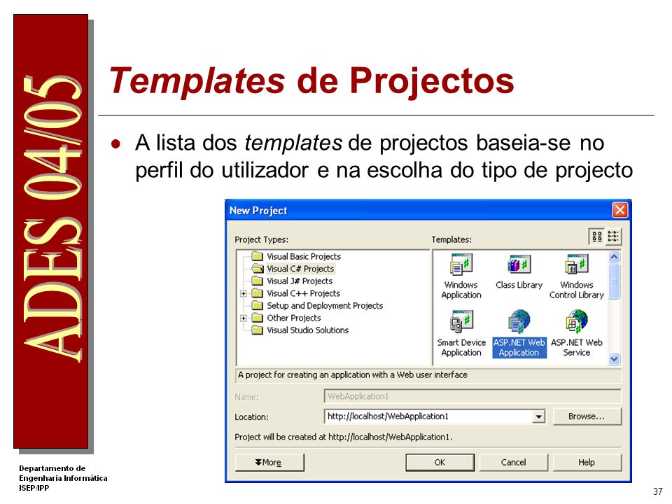 Templates de Projectos