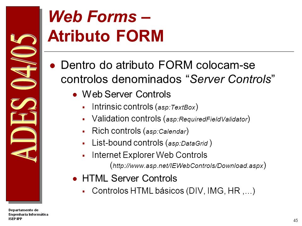 Web Forms – Atributo FORM