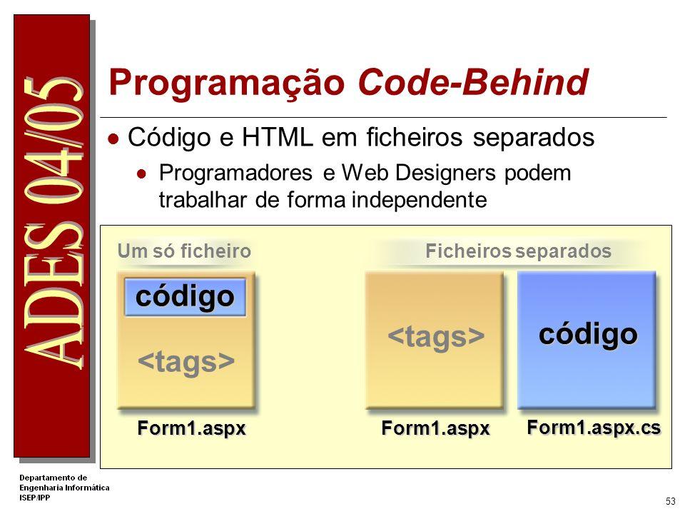 Programação Code-Behind
