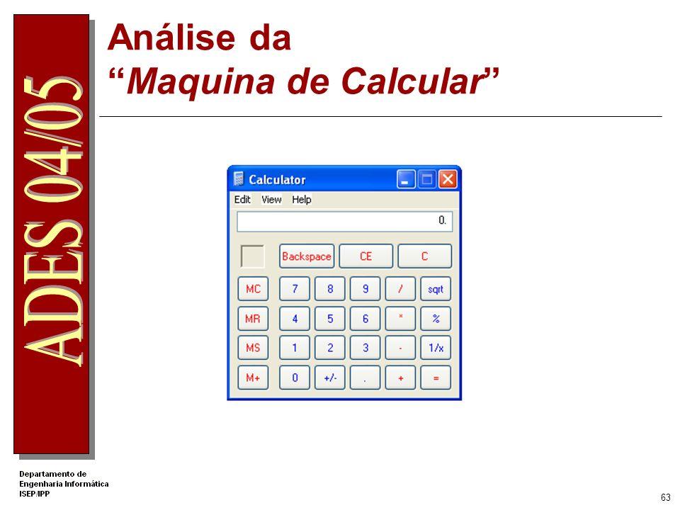 Análise da Maquina de Calcular