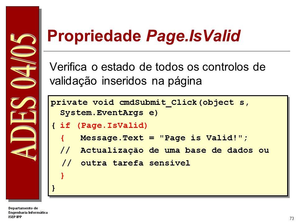 Propriedade Page.IsValid