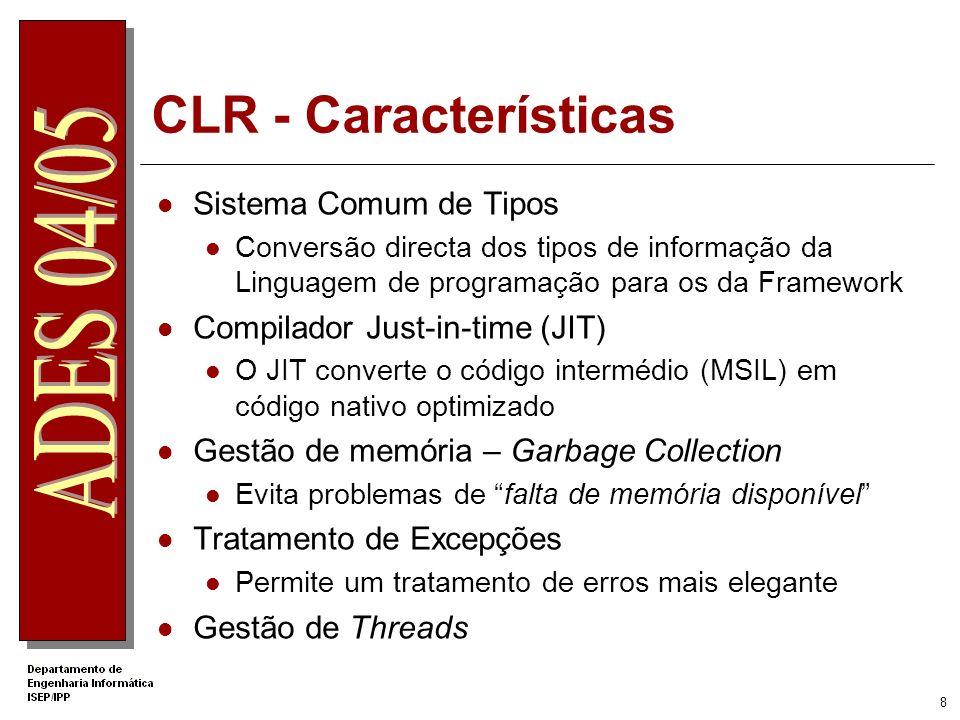 CLR - Características Sistema Comum de Tipos