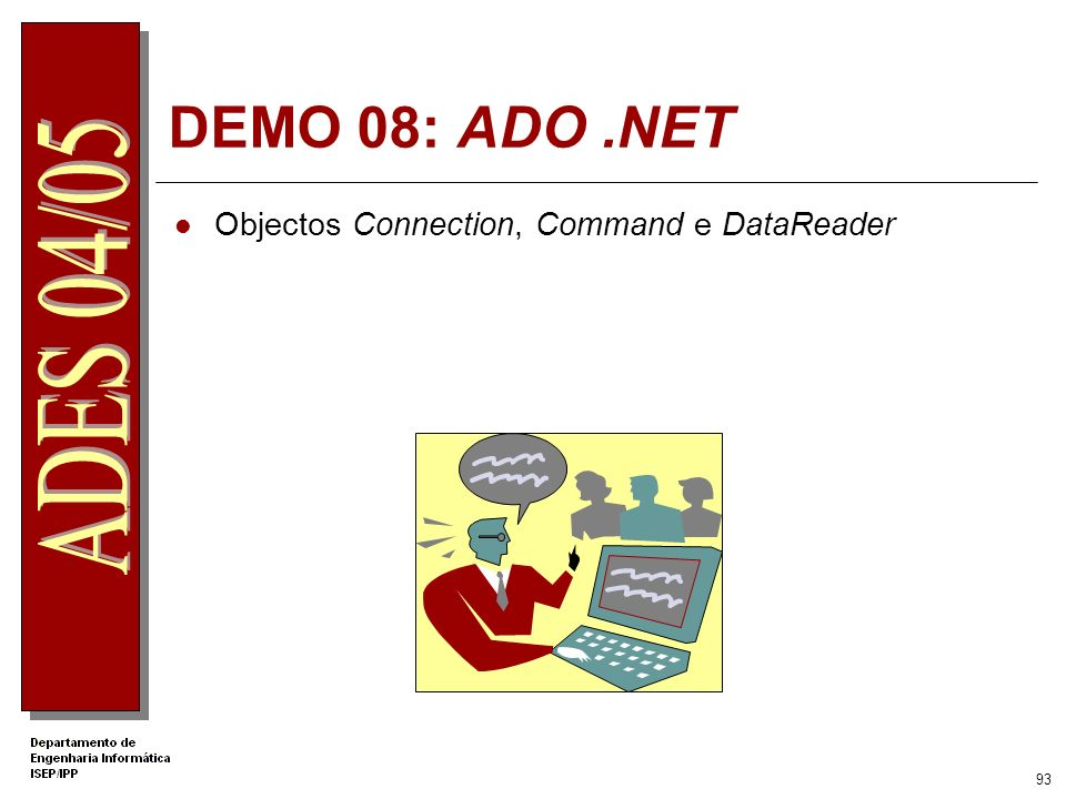 DEMO 08: ADO .NET Objectos Connection, Command e DataReader