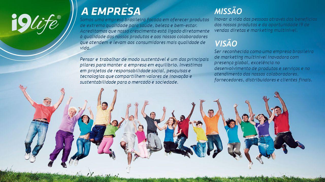 MISSÃO Inovar a vida das pessoas através dos benefícios dos nossos produtos e da oportunidade i9 de vendas diretas e marketing multinível.