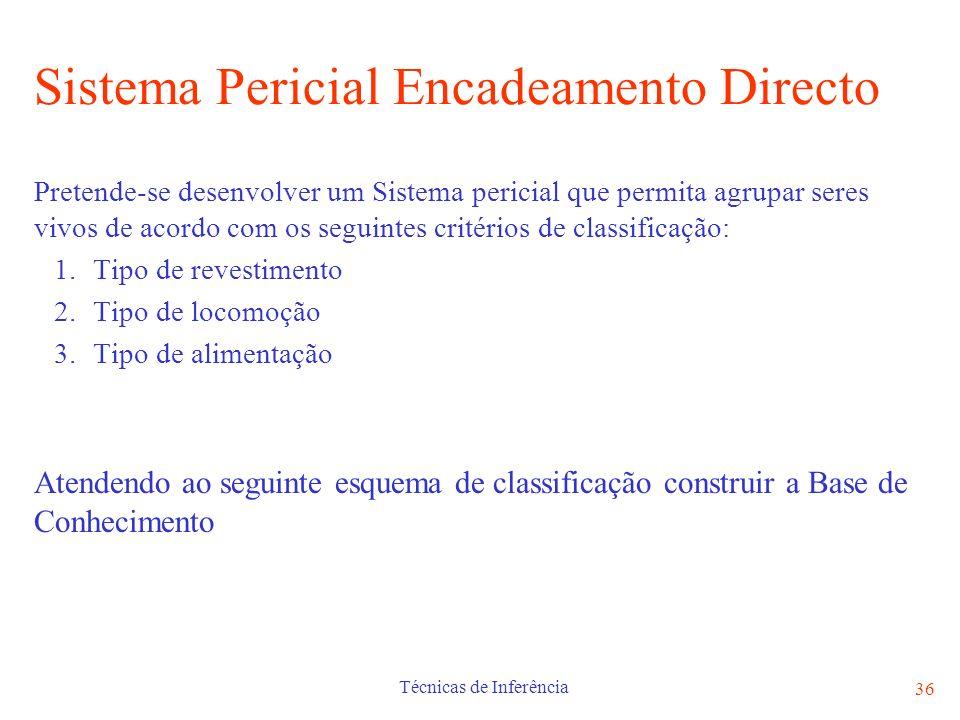 Sistema Pericial Encadeamento Directo