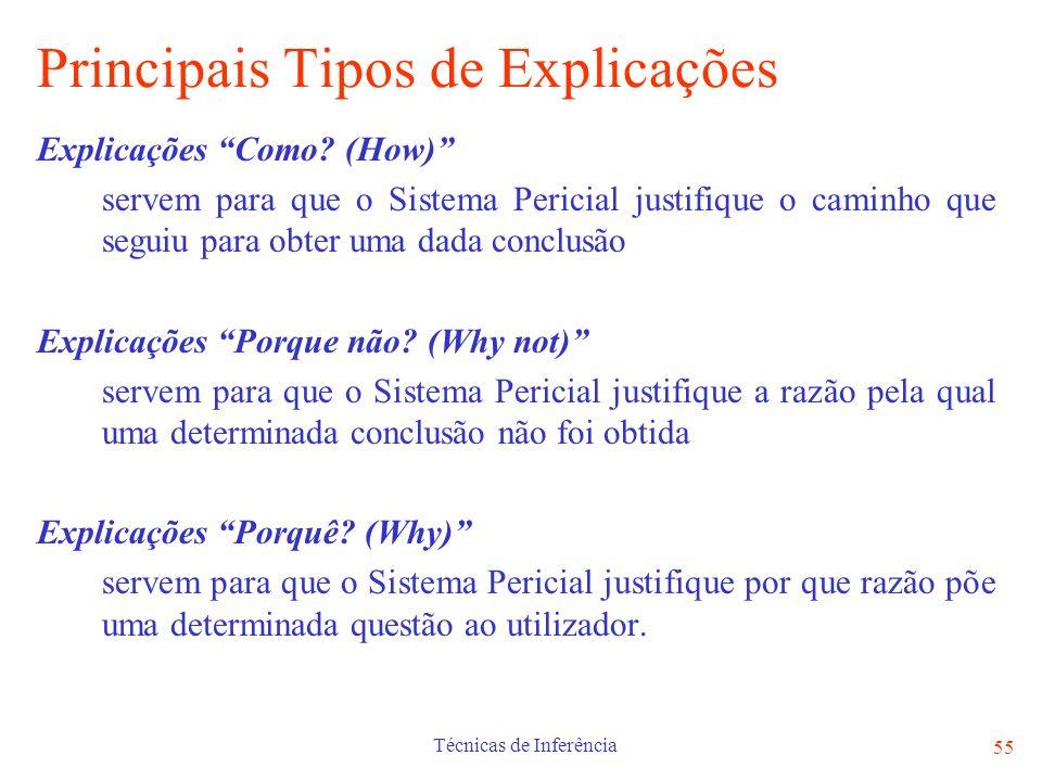 Principais Tipos de Explicações