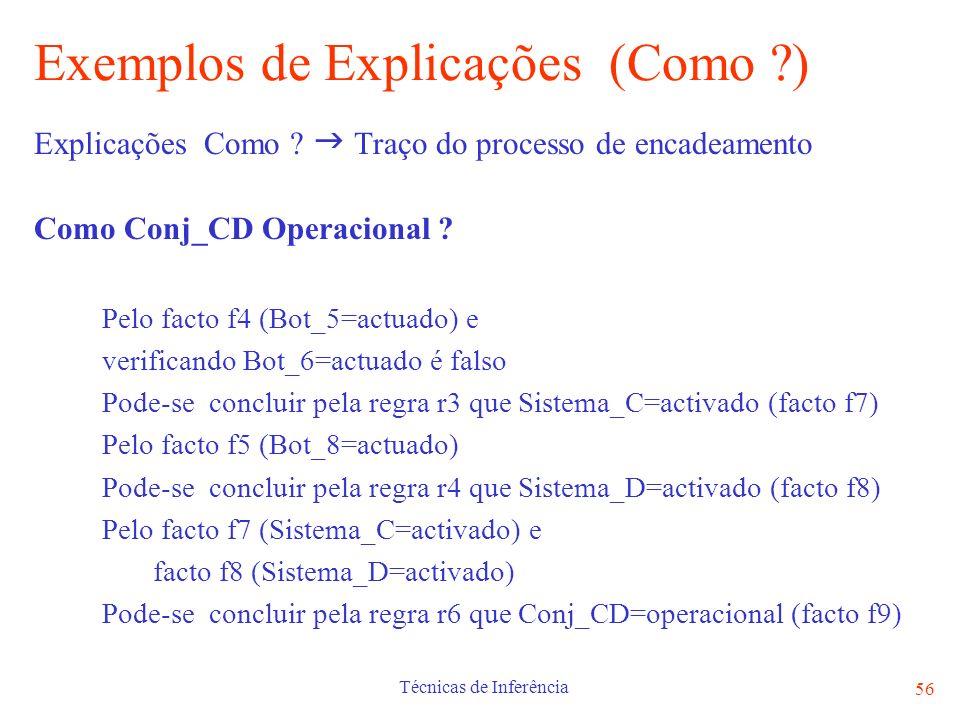 Exemplos de Explicações (Como )