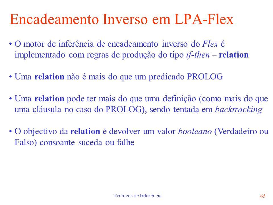 Encadeamento Inverso em LPA-Flex