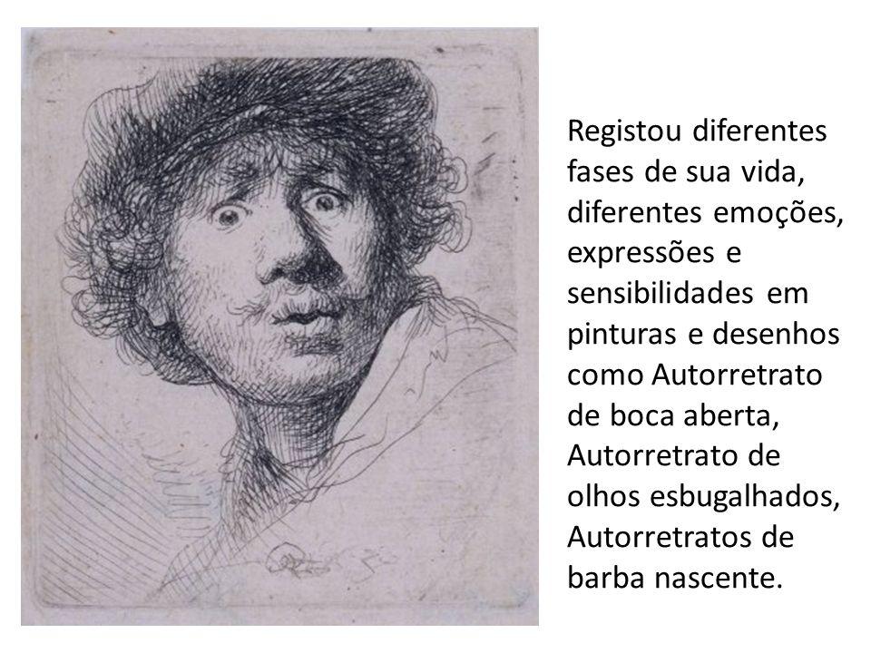 Registou diferentes fases de sua vida, diferentes emoções, expressões e sensibilidades em pinturas e desenhos como Autorretrato de boca aberta, Autorretrato de olhos esbugalhados, Autorretratos de barba nascente.