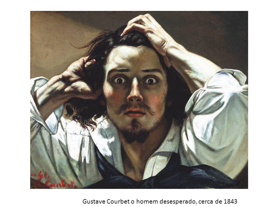 Gustave Courbet o homem desesperado, cerca de 1843