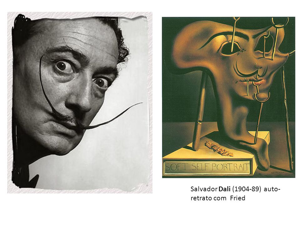 Salvador Dali (1904-89) auto-retrato com Fried