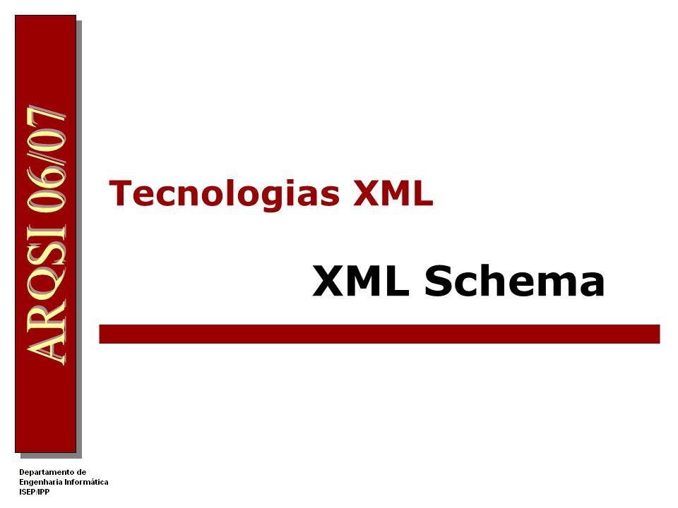 Tecnologias XML XML Schema