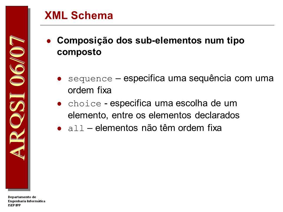 XML Schema Composição dos sub-elementos num tipo composto