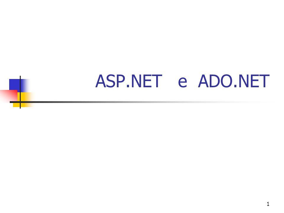 ASP.NET e ADO.NET