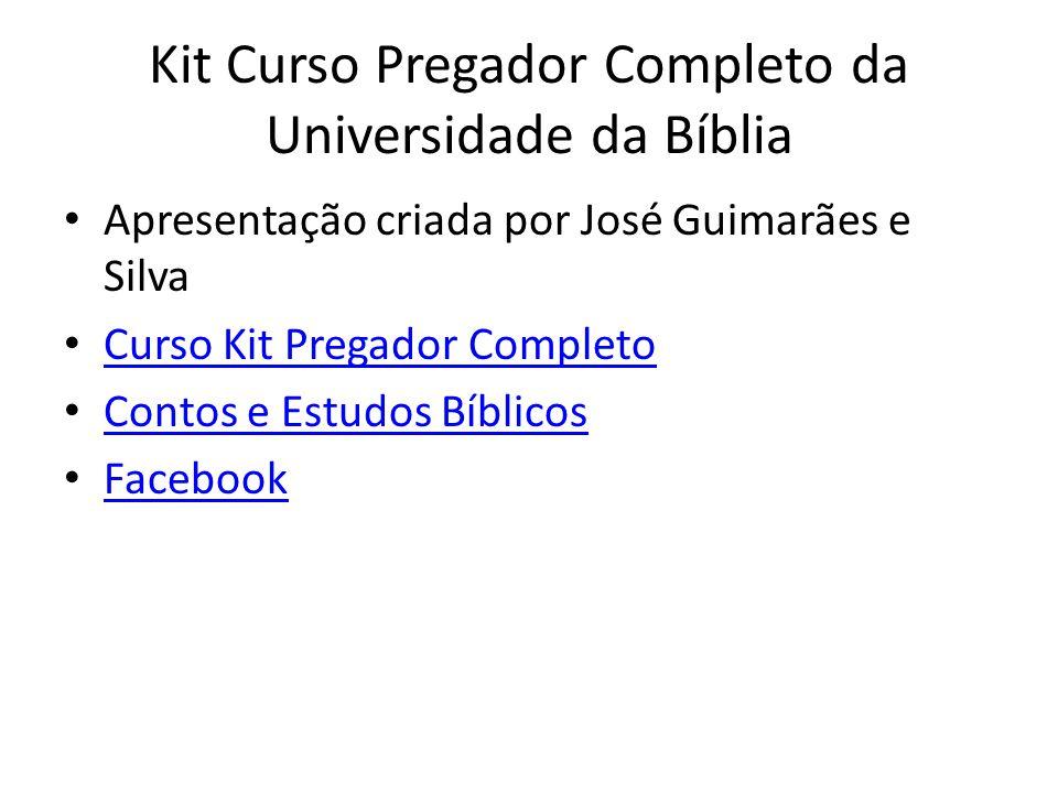 Kit Curso Pregador Completo da Universidade da Bíblia