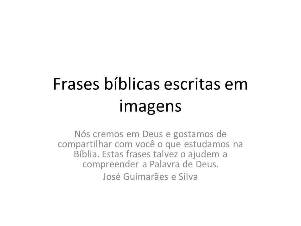 Frases bíblicas escritas em imagens