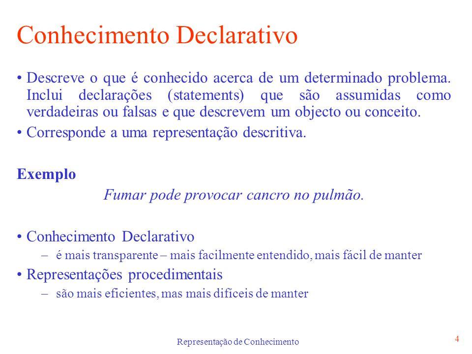 Conhecimento Declarativo