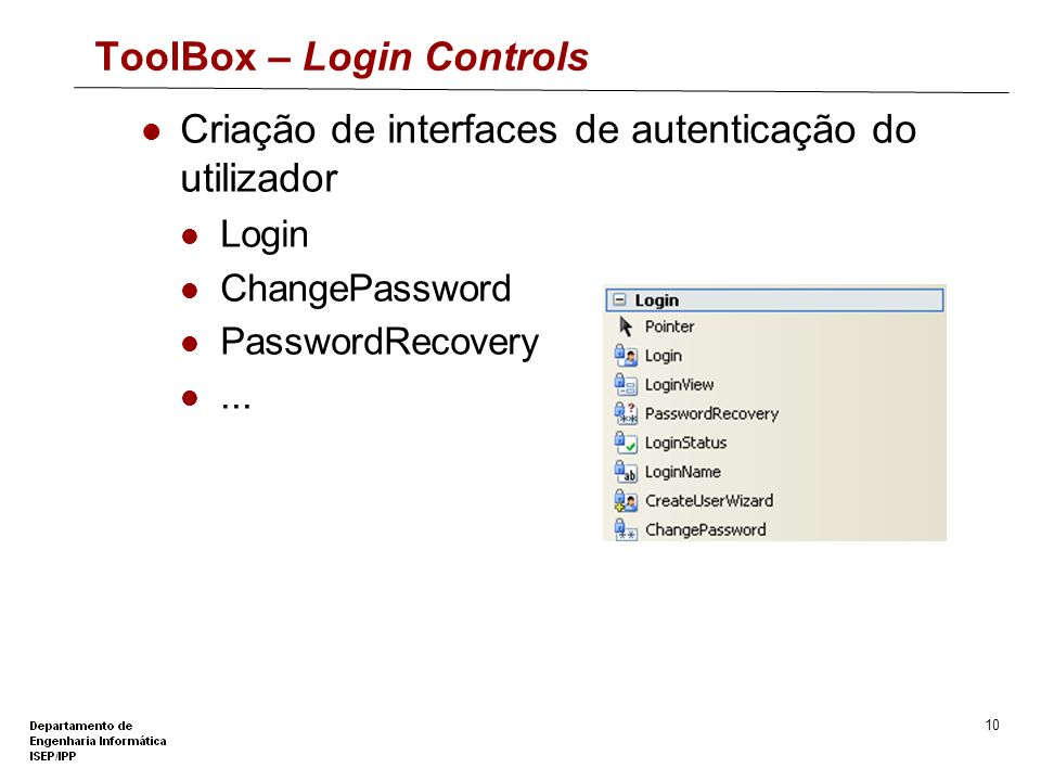 ToolBox – Login Controls