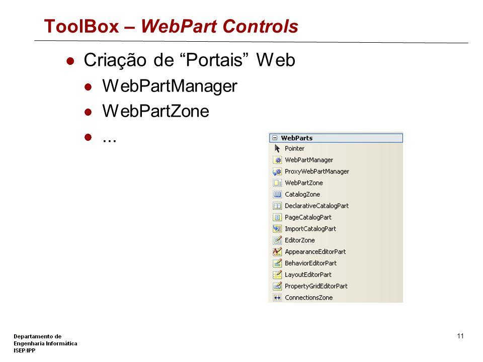 ToolBox – WebPart Controls