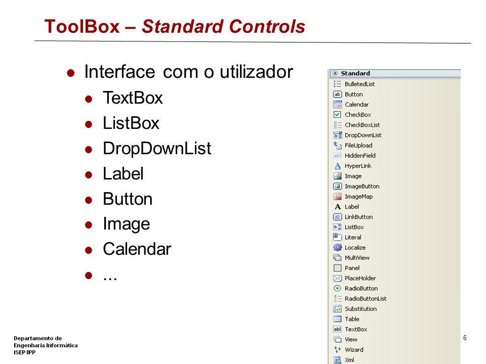 ToolBox – Standard Controls