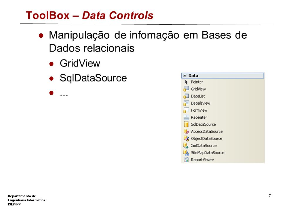 ToolBox – Data Controls