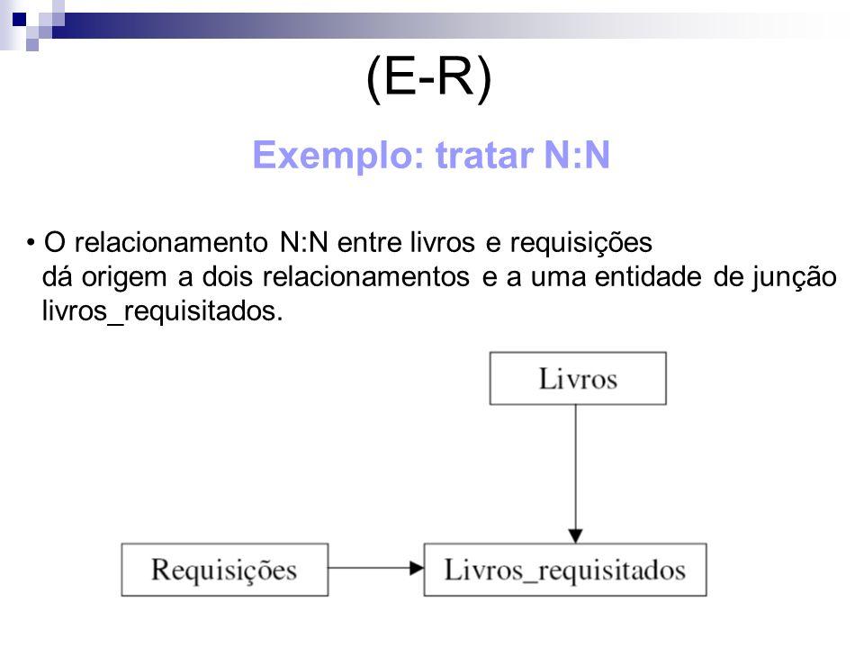 (E-R) Exemplo: tratar N:N