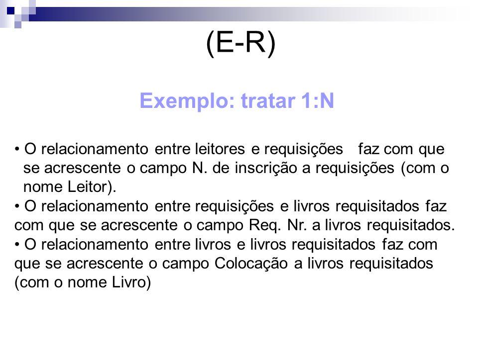 (E-R) Exemplo: tratar 1:N